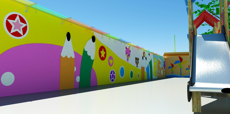操场围墙创意设计